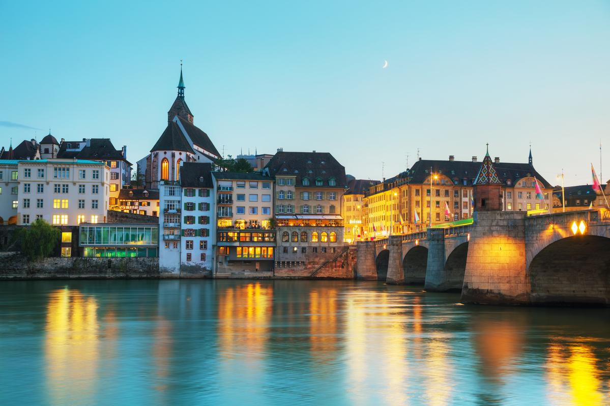 Basel Blick vom Rhein