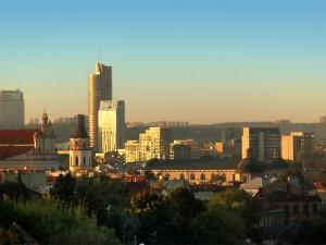 Vilnius bei Sonnenuntergang