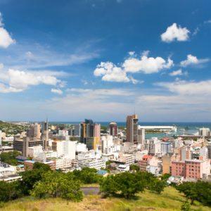 Blick auf Port Louis, Mauritius