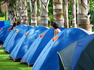 Blaue Zelte