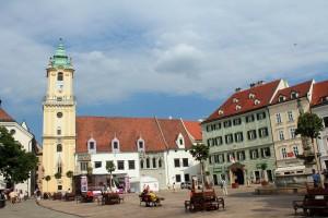 Die Innenstadt von Bratislava, Slowakei