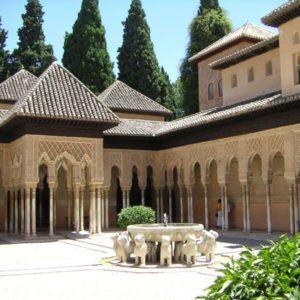 Brunnen, Alhambra, Granada, Andalusien