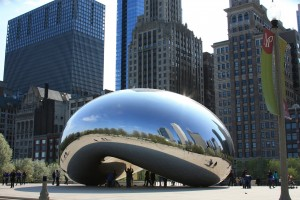 Die Cloud Gate in Chicago, Illinois