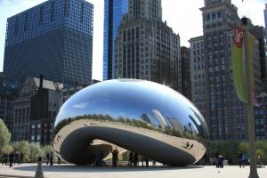 Die Cloud Gate in Chicago, Illinois