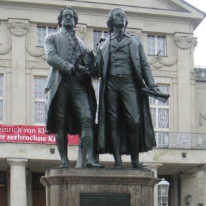 Goethe und Schiller Denkmal, Weimar, Thüringen