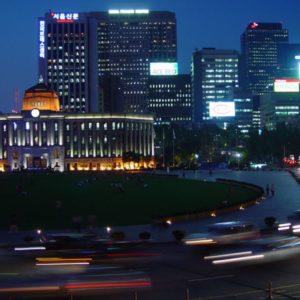 Innenstadt, Seoul, Südkorea