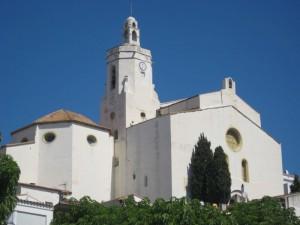 Kirche, Cadaques, Katalonien
