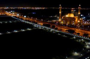 Moschee bei Nacht, Bahrain