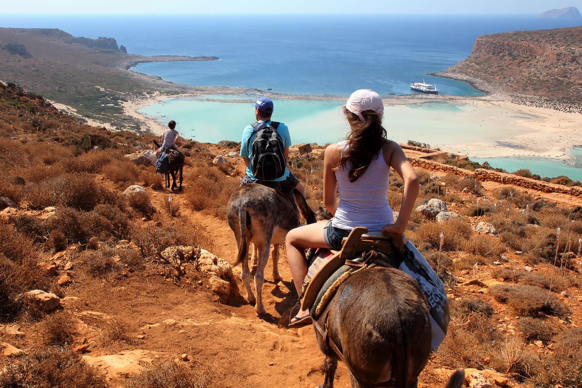 Eselreiten in Griechenland