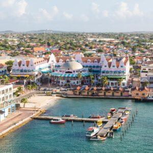 Blick auf Oranjestad