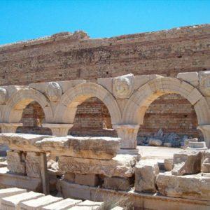 Ruinen, Leptis Magna, Libyen