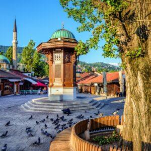 Sebilj-Brunnen in Sarajevo