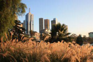 Skyline von Melbourne, Australien