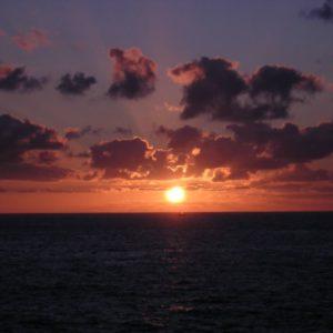 Sonnenuntergang, San Sebastian, Baskenland