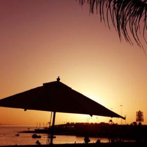 Sonnenuntergang Strand, Spanien