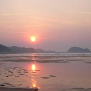 Sonnenuntergang, Zarautz, Baskenland