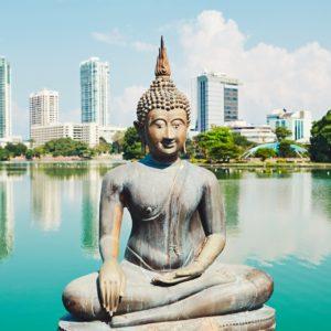 Blick auf Colombo