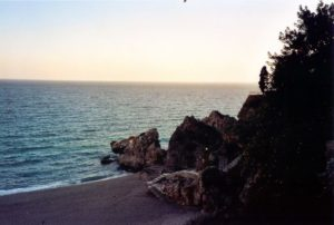 Strand, Nerja, Andalusien