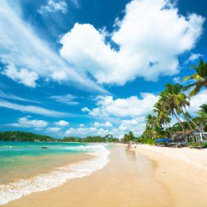 Strandabschnitt auf Sri Lanka